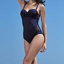 billige Våtdrakter, dykkerdrakter og våtskjorter-Dame Badedrakt Bodysuit Fort Tørring Ermeløs Svømming Dykking Ensfarget Sommer / Elastisk