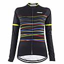 Χαμηλού Κόστους Τζάκετ Ποδηλασίας-21Grams Γυναικεία Μακρυμάνικο Φανέλα ποδηλασίας Μαύρο Ποδήλατο Αθλητική μπλούζα Μπολύζες Ποδηλασία Βουνού Ποδηλασία Δρόμου Διατηρείτε Ζεστό Αναπνέει Γρήγορο Στέγνωμα Αθλητισμός Χειμώνας 100% Πολυέστερ