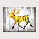 billige Tenningsdeler-Hang malte oljemaleri Håndmalte - Abstrakt Dyr Moderne Uten Indre Ramme