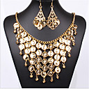 billiga Jewelry Set-Dam Brud Smyckeset geometriska folk Style örhängen Smycken Guld Till Party 1set