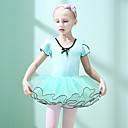 お買い得  バレエウェア-バレエ ドレス 女の子 訓練 / 性能 コットン / エラステイン カスケーディングラッフル 半袖 ドレス