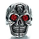 ราคาถูก แหวนผู้ชาย-สำหรับผู้ชาย แหวน 1pc สีเงิน เลียนแบบเพชร โลหะผสม ผิดปกติ วินเทจ อินเทรนด์ ชาติพันธุ์ ทุกวัน เครื่องประดับ สไตล์วินเทจ Skull