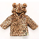 cheap Wedding Wraps-Toddler Girls' Active Leopard Regular Down & Cotton Padded Brown
