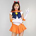 povoljno Anime kostimi-Inspirirana Sailor Moon školarke Anime Cosplay nošnje Japanski Cosplay Suits / Dresses Haljina / Rukavice / Luk Za Žene / Šeširi / Neckwear
