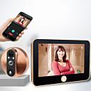 billige Dørtelefonssystem med video-m20 200w intelligent elektronisk kattøye-dørklokke trådløs intercomvideo dørklokke 4,3 tommer en til en kattøye håndfri hjemmevideo internhøyttaler klar infrarød nattsyn fjernkontroll av app