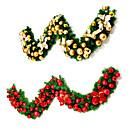 ราคาถูก ภาพจิตรกรรมฝาผนัง-หวายสีเขียวพวงหรีดคริสต์มาสที่มีไฟอุปกรณ์สุขสันต์วันคริสต์มาสสำหรับบ้านปีใหม่ต้นไม้เครื่องประดับ