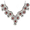 billige Smykkesett-Dame Halskjede geometriske Blomst Vintage Zirkonium Chrome Sølv 45+5 cm Halskjeder Smykker 1pc Til Daglig