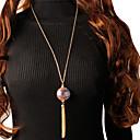 Χαμηλού Κόστους Μοδάτο Κολιέ-Γυναικεία Κρεμαστά Κολιέ Κρεμαστό μακρύ κολιέ Φούντα Τυχερός Μοντέρνο Κορεάτικα Μοντέρνα χαριτωμένο στυλ Κεραμικό Χρώμιο Χρυσό Ασημί 75 cm Κολιέ Κοσμήματα 1pc Για