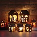 Χαμηλού Κόστους Φόρμες για κέικ-1pc Άγιος Βασίλης Διακοσμητικός φωτισμός Ζεστό κίτρινο Button Powered Battery Νεό Σχέδιο / Δημιουργικό / Διακοσμητικό Μπαταρίες Powered