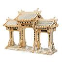 ราคาถูก โมเดลและชุดโมเดล-3D-puslespill Model Building Kits แบบไม้ สถาปัตยกรรมแบบจีน สนุก 1 pcs คลาสสิก สำหรับเด็ก Toy ของขวัญ