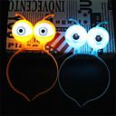 baratos Tapetes e Esteiras-1 pc noite luz azul led luzes luminosas halloween natal acessórios de concerto vocal alienígenas suprimentos para os olhos cabeça cabelo anel banda decoração do partido