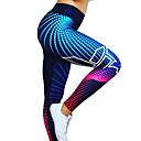 povoljno Odjeća za fitness, trčanje i jogu-Žene Visoki struk Hlače za jogu 3D digitalni ispis Crn Tamno siva Crna / srebrna Red / White Zlatan Spandex Trčanje Fitness Trening u teretani Biciklizam Hulahopke Tajice Sport Odjeća za rekreaciju