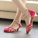 billige LED Sko-Jente Moderne sko / Ballett Semsket lær Høye hæler Kubansk hæl Dansesko Svart / Fuksia / Rød / Ytelse