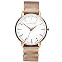 ราคาถูก Smartwatches-สำหรับผู้ชาย นาฬิกาข้อมือสแตนเลส นาฬิกาอิเล็กทรอนิกส์ (Quartz) รูปแบบชุดเป็นทางการ สไตล์ เงิน / ทอง / Rose Gold 30 m โครโนกราฟ Creative เรืองแสง ระบบอนาล็อก วิบวับ ไม่เป็นทางการ - สีดำ Rose Gold
