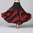 ราคาถูก ชุดเต้น Ballroom-ชุดเต้นรำโมเดิร์น ด้านล่าง สำหรับผู้หญิง การฝึกอบรม / Performance ตารางไขว้ / ชิฟฟอน / เส้นใยโปรตีนจากนม ระบาย Cascading / ข้อต่อ ธรรมชาติ กระโปรง