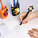 billiga Obsidian-5 stilar halloween mjuk keramik kulspetspenna skrivbordsdekoration pumpa bollpennor gåva brevpapper skolmaterial