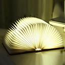 Χαμηλού Κόστους Έξυπνο Φως LED-1pc οδήγησε νυχτερινό φως δημιουργικό βιβλίο σε σχήμα ζεστό λευκό usb <= 36V>