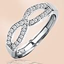 povoljno Modno prstenje-Žene Prsten 1pc Srebro Kamen Platinum Plated Cirkularno Osnovni Korejski Moda Dar Praznik Jewelry