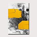 baratos Pinturas Abstratas-Pintura a Óleo Pintados à mão - Abstrato Modern Sem armação interna