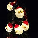 baratos Iluminação de Motocicleta-1.5 m luzes da corda 10 leds dip led branco quente / branco / multi cor decorativa / decoração de casamento de natal aa baterias alimentadas 1 pc