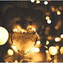 billige LED-stringlys-5 m Lysslynger 50 LED SMD 0603 Varm hvit / Hvit / Multifarget Vanntett / Fest / Dekorativ Batterier drevet 1pc