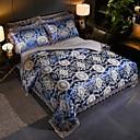povoljno Luksuzni poplune-satenski žakard vjenčani set od 4 komada tencelne modne čipke veliki čipkasti posteljinski set