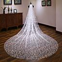 Χαμηλού Κόστους Διακοσμητικά Γάμου-Μίας Βαθμίδας Ευρωπαϊκό Στυλ Πέπλα Γάμου Πολύ Μακριά Πέπλα με Διακοσμητικά 137,8 ίντσες(350εκ) Δαντέλα / Τούλι / Στυλ Αγγέλου / Καταρράκτης
