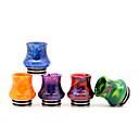 billige Damptilbehør-Yuhetec 810 vase harpiks rustfritt stål dryppspiss for tfv8 big baby / tfv12 prins / griffin 25 / ijust 3 / ello duro / farao mini / ammit 25 / creed rta atomizer