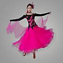 povoljno Svečana plesna odjeća-Klasični plesovi Haljine Žene Seksi blagdanski kostimi Chinlon / Organza Aplikacije Dugih rukava Prirodno Haljina