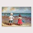 baratos Pinturas Abstratas-Pintura a Óleo Pintados à mão - Abstrato Paisagem Modern Incluir moldura interna