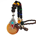 cheap Necklaces-Women's Collar Necklace Beaded Necklace Necklace Vintage Boho Africa Ancient Egypt Wood Black White Yellow Red Beige 55 cm Necklace Jewelry 1pc For Daily / Long Necklace