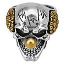 Χαμηλού Κόστους Αντρικές Μπότες-Ανδρικά Δαχτυλίδι 1pc Χρυσό Κράμα Ακανόνιστο Βίντατζ Μοντέρνο Etnic Καθημερινά Κοσμήματα Πεπαλαιωμένο Στυλ Κλόουν Κρανίο