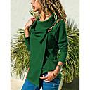 baratos Plantas Artificiais-Mulheres Tamanhos Grandes Camiseta Sólido Colarinho de Camisa Vinho