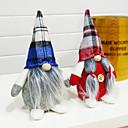 billiga Christmas Gifts-Holiday Decorations Julpynt Julfigurer / juldekoration / Dekorativa föremål Tecknat / Dekorativ / Vackert Röd / Blå 1st