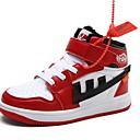 זול מגפיים לילדים-בנות נוחות PU מגפיים ילדים קטנים (4-7) שחור / אדום / כחול חורף / מגפונים\מגף קרסול