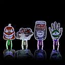 billige Vifte-1 stk halloween skjelett hodeskalle monster gresskar heks dekorasjon lys fargerik knapp batteridrevet ny design kreativ dekorasjon