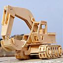 ราคาถูก โมเดลและชุดโมเดล-รถของเล่น 3D-puslespill Puslespill เครื่องจักรขุด DIY ทำด้วยไม้ คลาสสิก ยานพาหนะก่อสร้าง สำหรับเด็ก Toy ของขวัญ