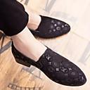 baratos Oxfords Masculinos-Homens Sapatos Confortáveis Couro Ecológico Verão Oxfords Preto / Marron / Azul / Ao ar livre