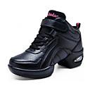 Χαμηλού Κόστους Αθλητικά Χορού-Γυναικεία Παπούτσια Χορού Δέρμα Παπούτσια Χορού Αθλητικά Πυκνό τακούνι Εξατομικευμένο Μαύρο