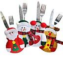 ราคาถูก ที่เก็บบัตรและเอกสารประจำตัว-4 ชิ้นคริสต์มาสช้อนส้อมมีดกระเป๋ามีดพกมีดบนโต๊ะอาหารกระเป๋าซานตาคลอสโต๊ะอาหารค่ำตกแต่งบ้าน