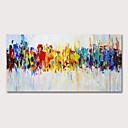 olcso Absztrakt festmények-Hang festett olajfestmény Kézzel festett - Absztrakt Modern Anélkül, belső keret