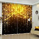 olcso 3D függönyök-arany fény digitális nyomtatás 3d függöny árnyékoló függöny nagy pontosságú fekete selyem anyagból kiváló minőségű függöny