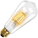 povoljno LED žarulje s nitima-KWB 1pc 6 W LED filament žarulje 560 lm E26 / E27 ST64 6 LED zrnca COB Ukrasno Toplo bijelo 220-240 V 110-130 V