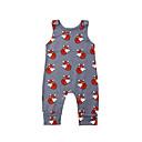 billige BabyGutterdrakter-2pcs Baby Gutt Aktiv Trykt mønster Trykt mønster Ermeløs Endelt Grå
