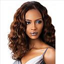 olcso Szintetikus parókák-Szintetikus parókák Egyenes Középső rész Paróka Hosszú közepes Auburn Szintetikus haj 16 hüvelyk Női Női Fekete