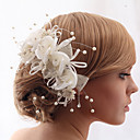 billiga Huvudsmycken till fest-Oäkta pärla / Bergkristall / Tyg Blommor med Blomma 1 st. Bröllop Hårbonad