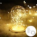 Χαμηλού Κόστους LED Φωτολωρίδες-1pcs 3m 30leds γιρλάντα διακοσμητικά φως χάλκινο σύρμα cr2032 μπαταρία που λειτουργούν Χριστούγεννα διακόσμηση γάμου κόμμα οδήγησε νεράιδα φώτα