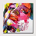 olcso Absztrakt festmények-Hang festett olajfestmény Kézzel festett - Absztrakt Emberek Modern Anélkül, belső keret