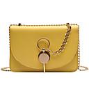 Χαμηλού Κόστους Τσάντες χιαστί-Γυναικεία Αλυσίδα PU Σταυρωτή τσάντα Συμπαγές Χρώμα Μαύρο / Λευκό / Κίτρινο