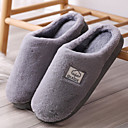 ราคาถูก รองเท้าแตะ & Flip-Flops ผู้ชาย-สำหรับผู้ชาย รองเท้าสบาย ๆ ขนเทียม ฤดูหนาว ไม่เป็นทางการ รองเท้าแตะและรองเท้าแตะ วสำหรับเดิน รักษาให้อุ่น สีน้ำตาล / สีเทา
